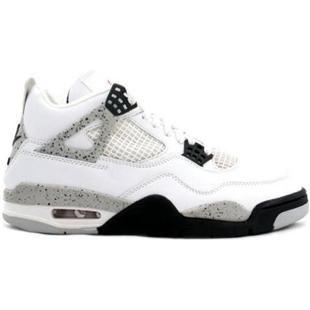 super popular 55706 f33c9 http   www.anike4u.com  Air Jordan 4 Retro White Black Tech Grey 308497 103 For  Sale