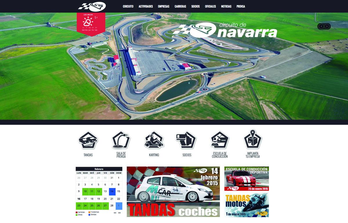 Desarrollo de web para el Circuito de Navarra, con módulos personalizados para la gestión de carreras, calendario, etc - Calle Mayor Comunicación y Publicidad