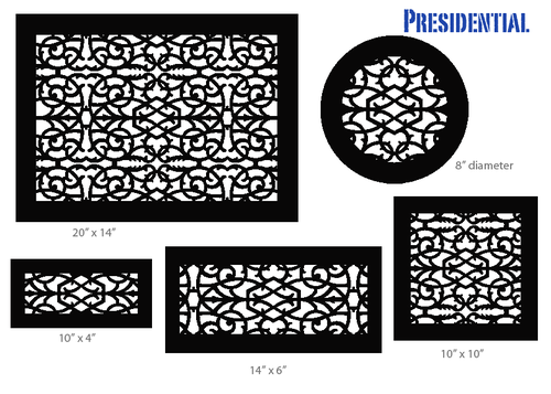 11 5 W X 7 5 H Presidential Black Vent Cover Decorative Vent Cover Vent Covers Custom Metal