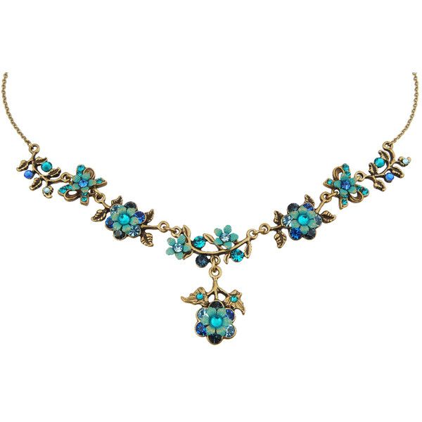 Michal Negrin Jewelry Crystal Flower Necklace 100-107320-006 (376.770 COP) ❤ liked on Polyvore featuring jewelry, necklaces, blossom jewelry, crystal flower necklace, crystal stone jewelry, flower jewellery and michal negrin