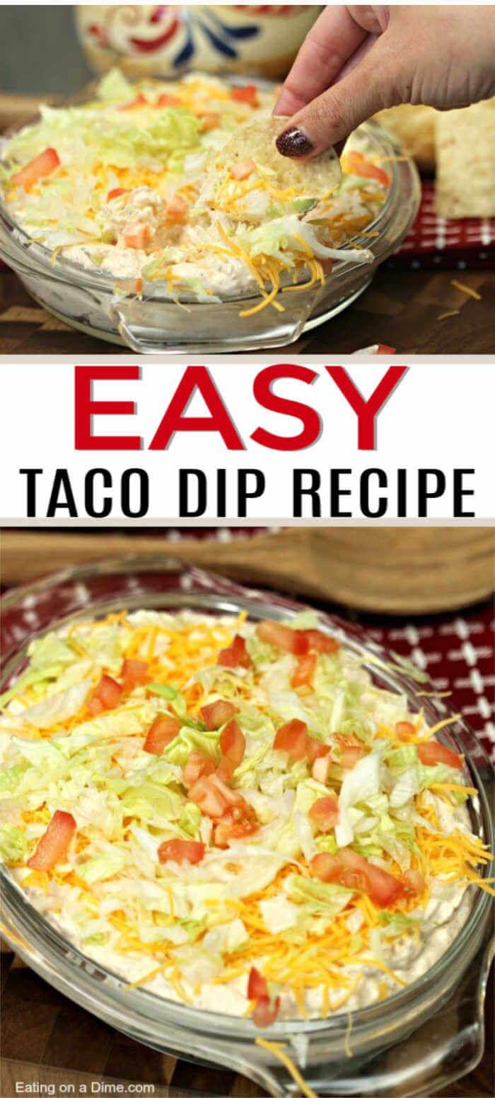 The Best Taco Dip Recipe Best Taco Dip Recipe Dip Recipes Food Recipes