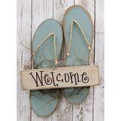 Blue Flip Flops Welcome Sign