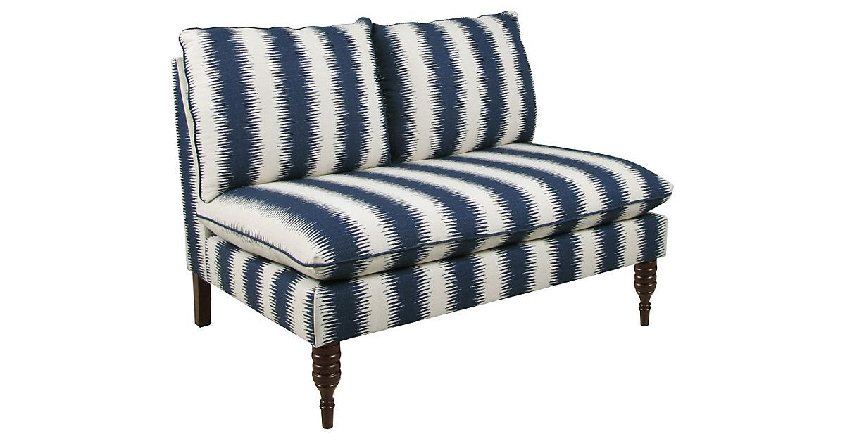 This Armless Settee Adds Just A Touch Of Pattern To A Room As Your Home Changes And Grows You Ll Find New Spots To Place T Kleines Sofa Sofa Gestreiftes Sofa