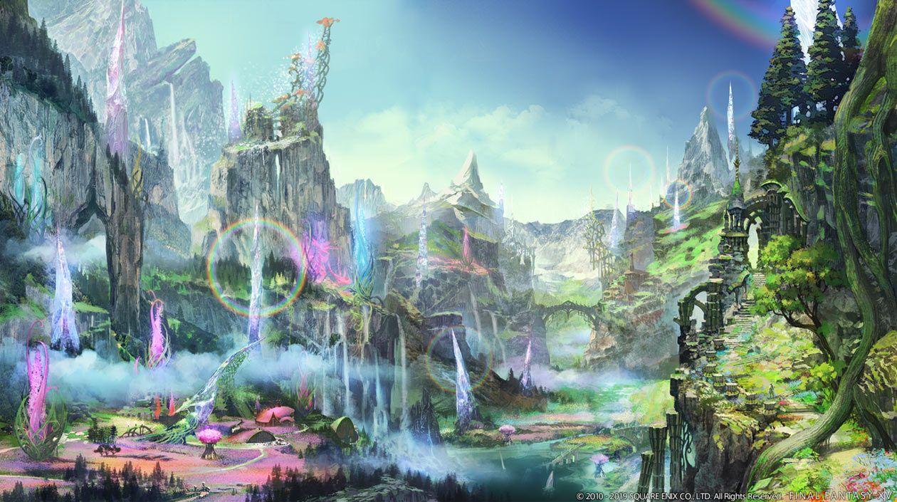 Il Meg environment concept art from Final Fantasy XIV ...