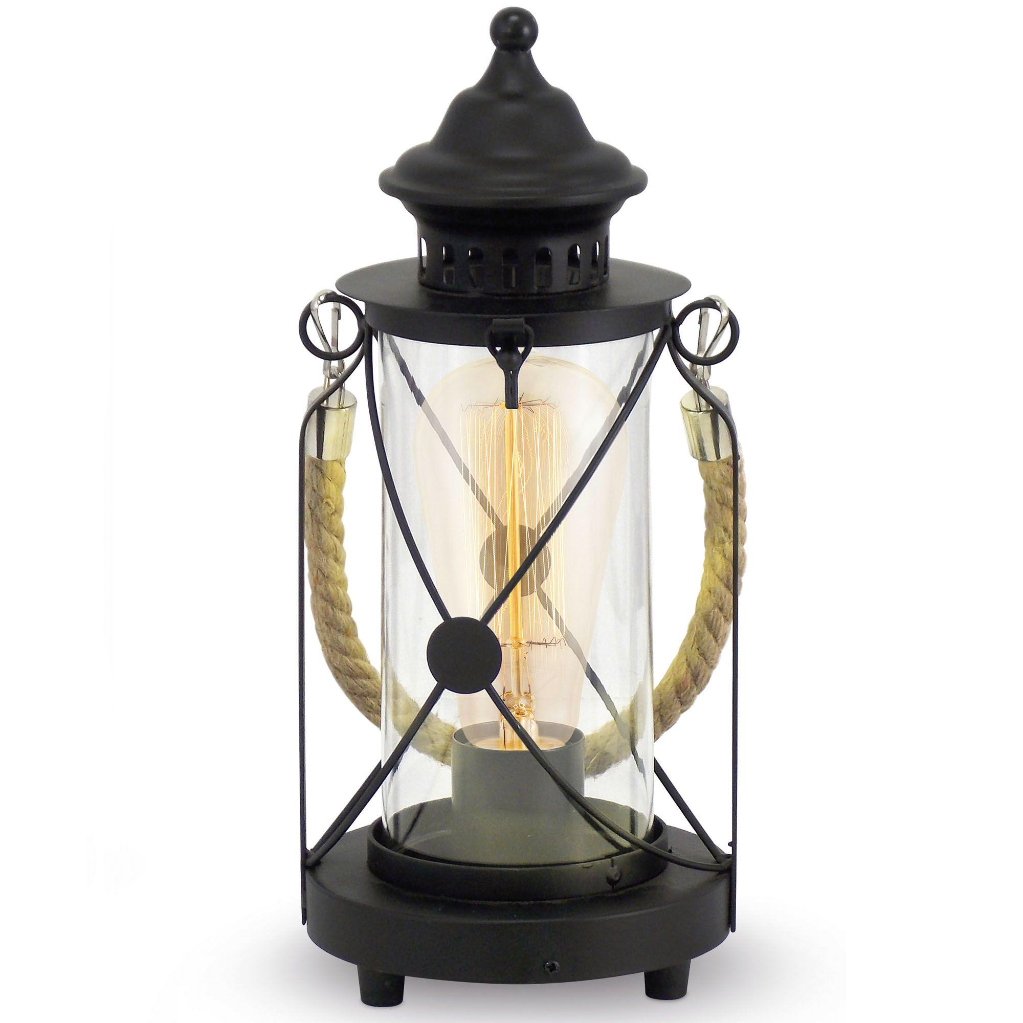 Black Eglo Bradford Lantern Table Lamp Vintage Table Lamp Lantern Table Lamp Eglo