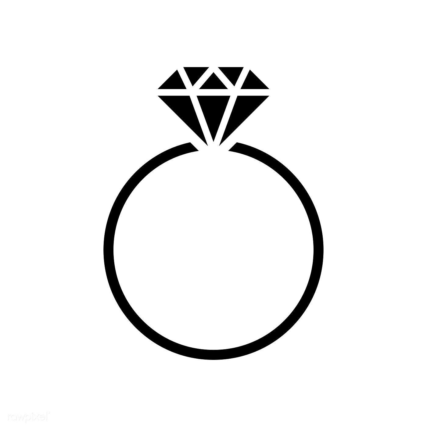 Diamond Wedding Ring Graphic Illustration Free Image By Rawpixel Com Manotang Wedding Ring Graphic Ring Logo Diamond Logo
