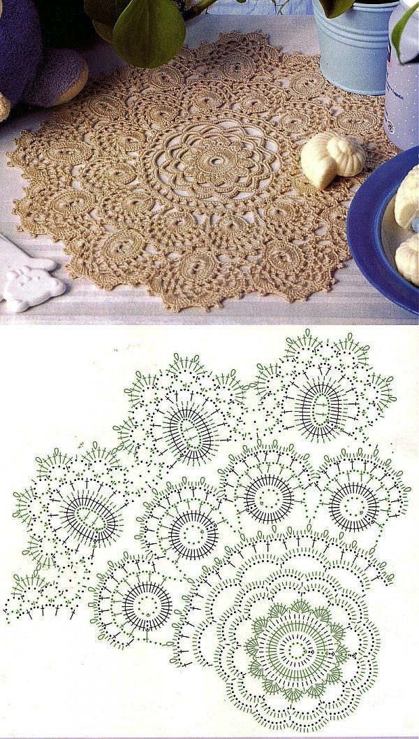 liveinternet.ru | Crochet | Pinterest | Carpeta, Tapetes y Tapetes ...