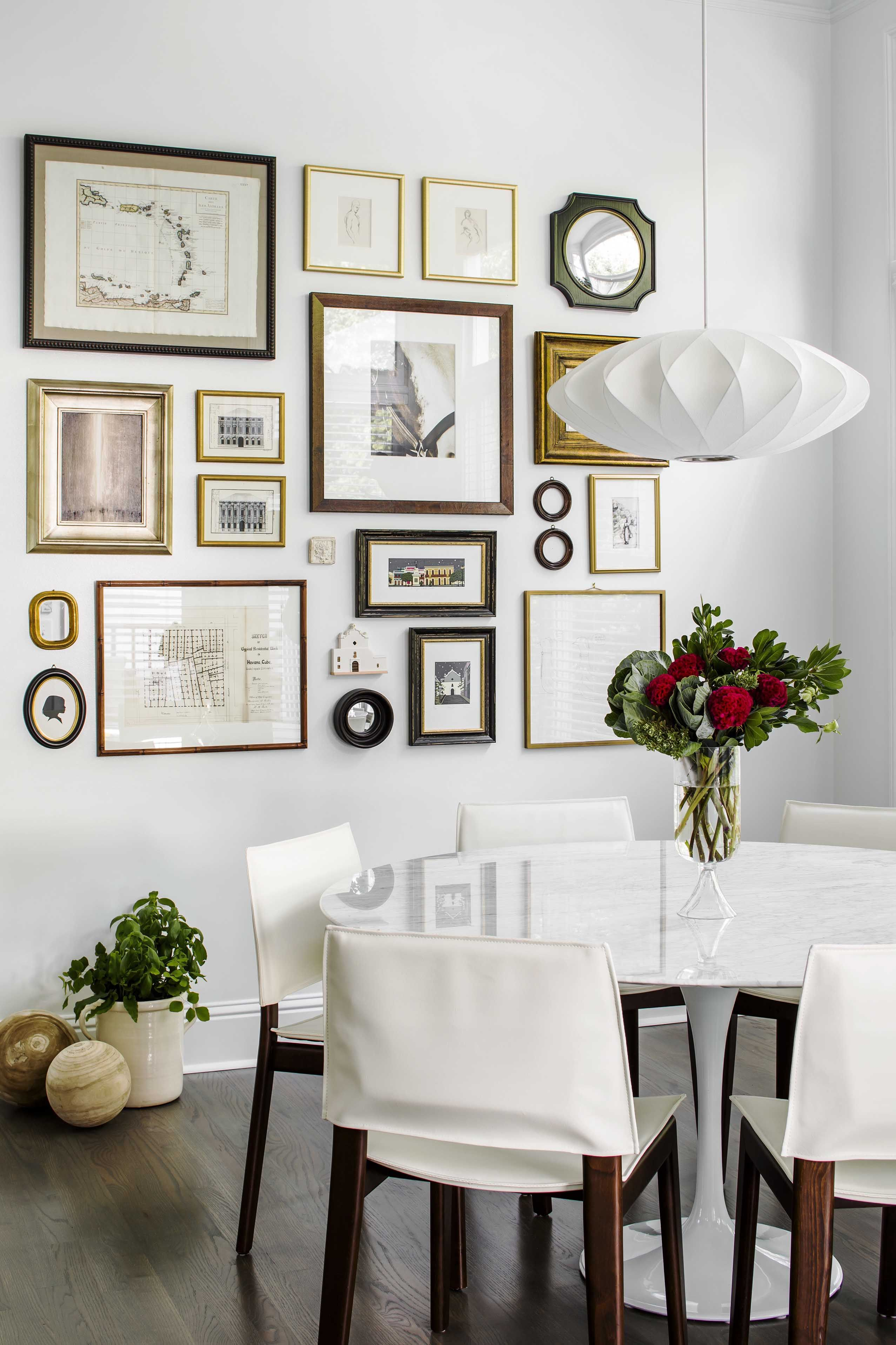 Kitchen Nook Gallery Wall Eclectic Mix Of Different Prints Are