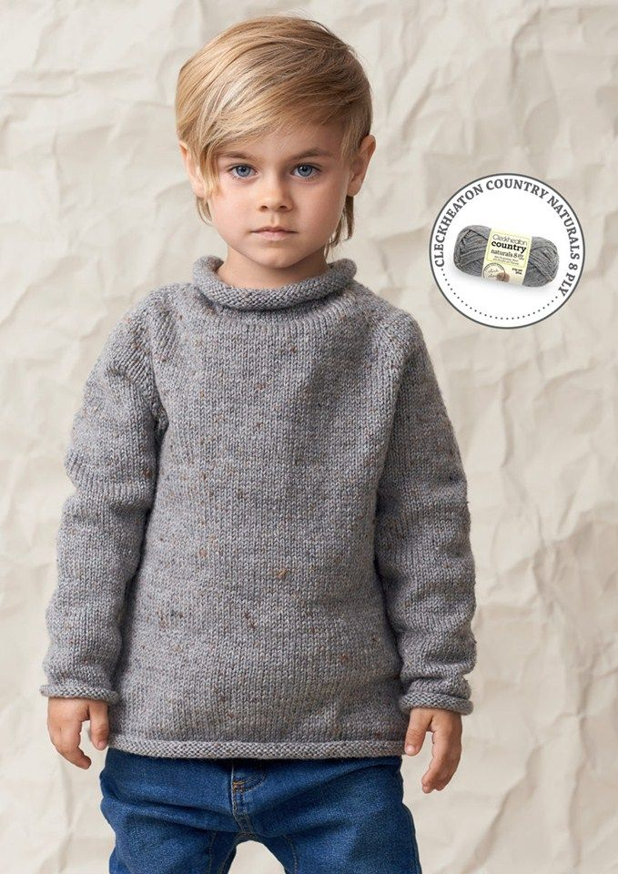 Top Down Seamless Sweater knitted in 8 ply by Cleckheaton ...