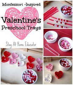 Montessori Inspired Preschool Valentine's Activities