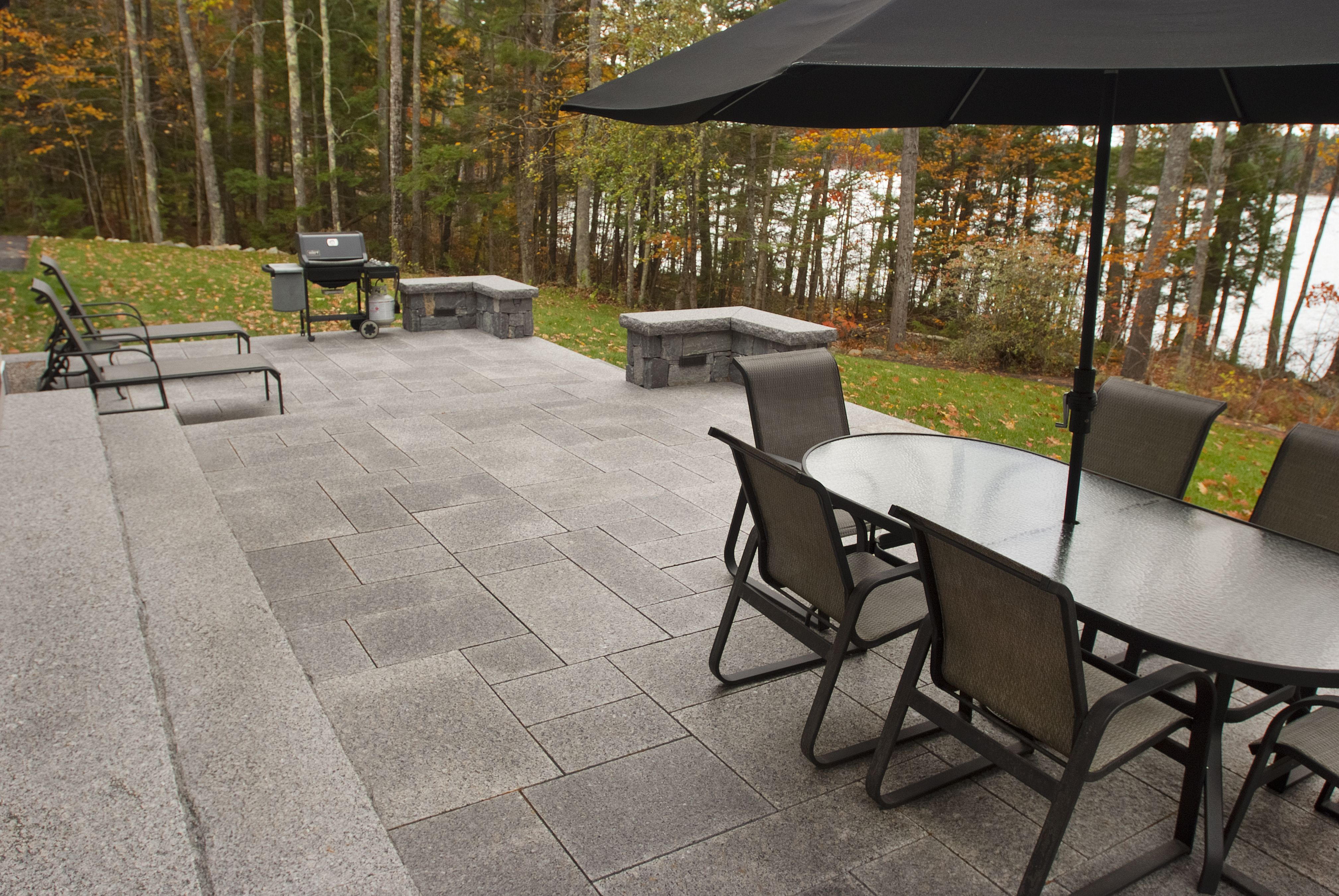 Lake House Living This Private Patio Is Made From Thermal