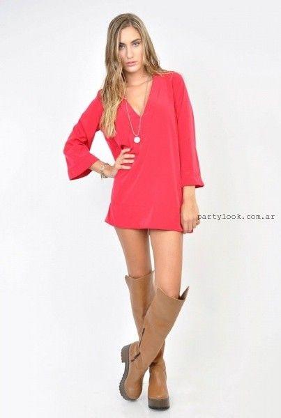 1000e116e Vestidos cortos con mangas sueltos invierno 2015