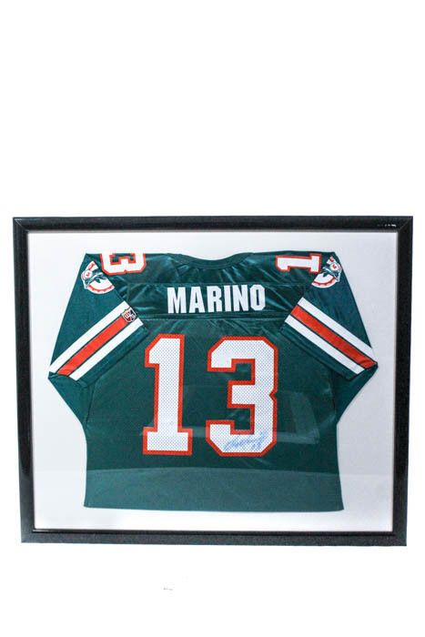 8b817cdf3 Dan Marino Miami Dolphins Autographed Framed Football Jersey (eBay Link)