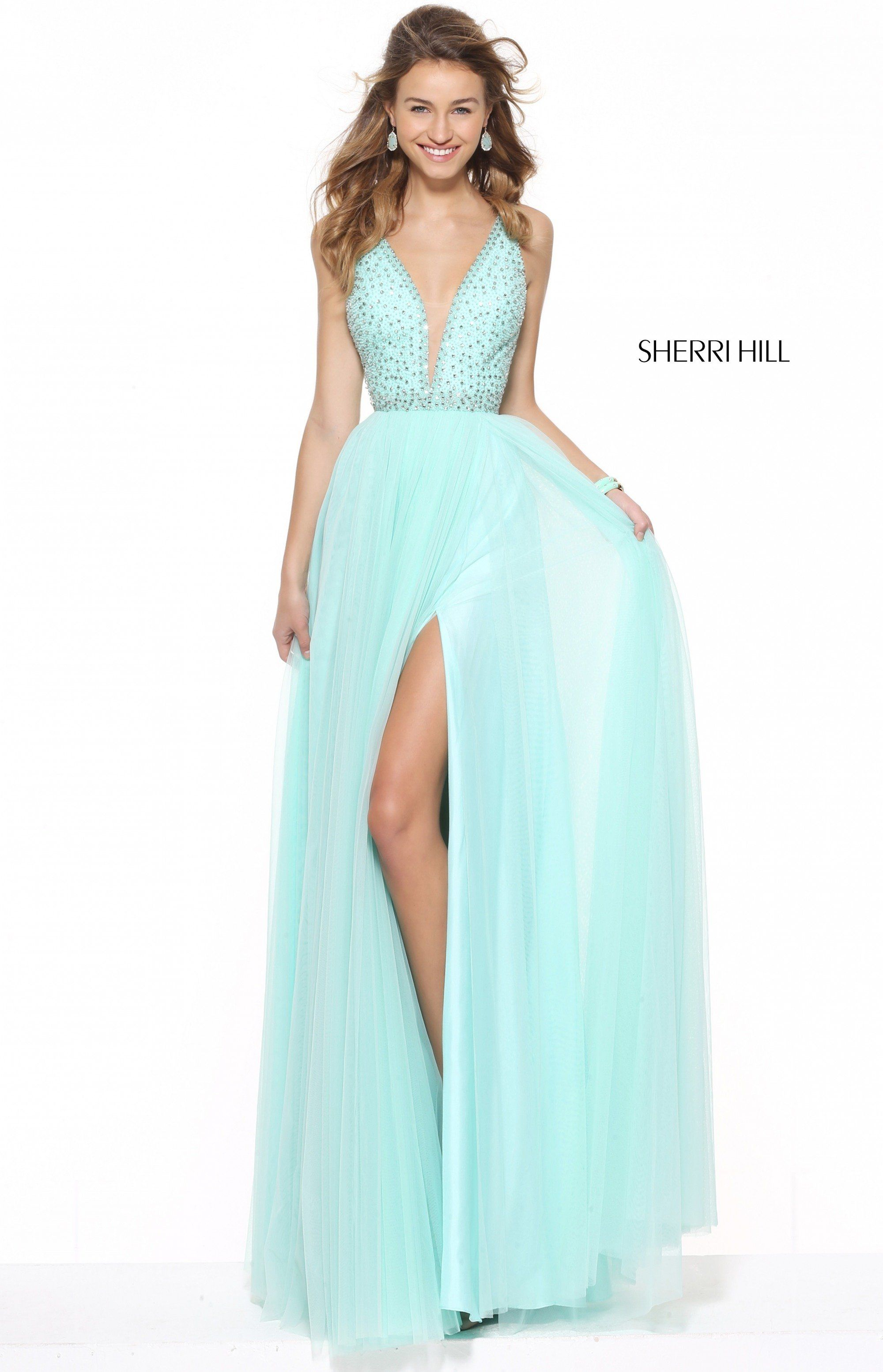 Sherri Hill 50868 is available in sizes 00-18 and in the following ...