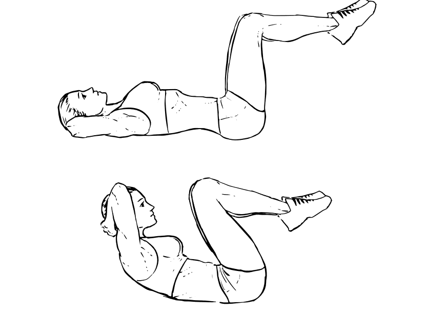 Упражнение скручивание в картинках