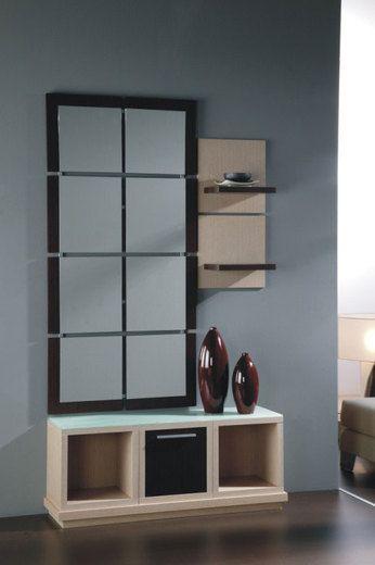 meuble dentre avec miroir contemporain warhol coloris weng et pin