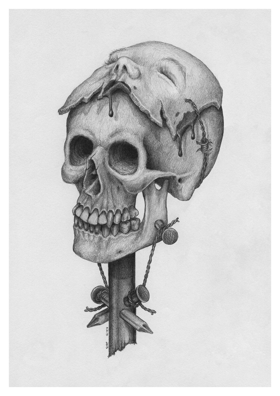MASQUERADE Skull Drawing Made By Kiki71