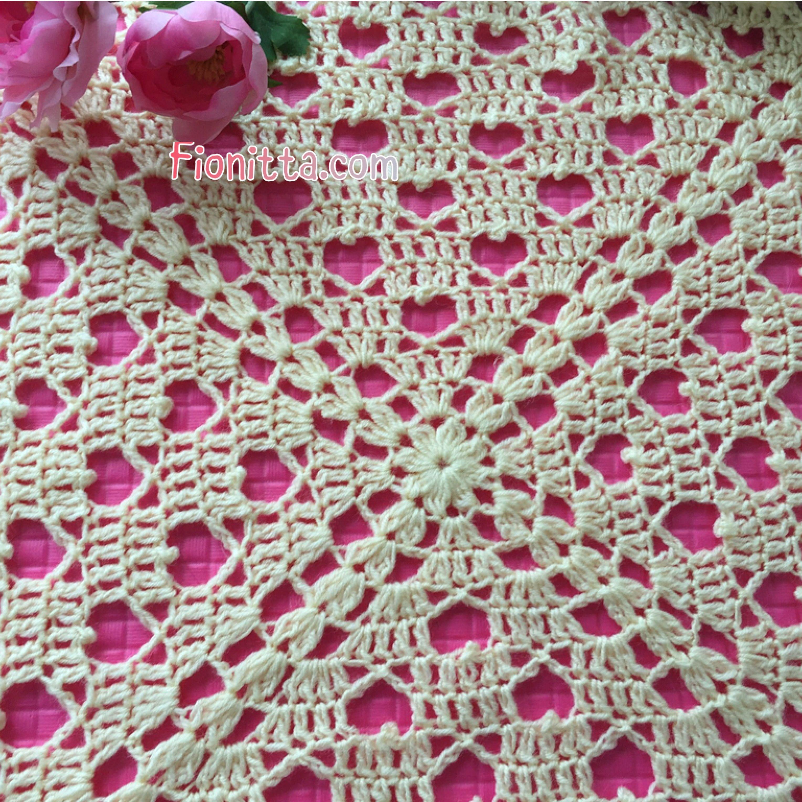 Free Crochet Hearts Square Blanket Pattern by Fionitta | | Fionitta ...