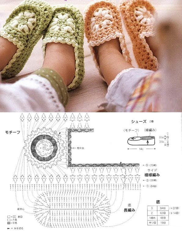 crochet tuto slippers (29) | CROCHET | Pinterest | Ganchillo ...