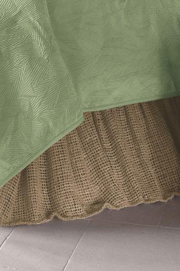 Raw Silk Woven Bedskirt Good Nite Sleep