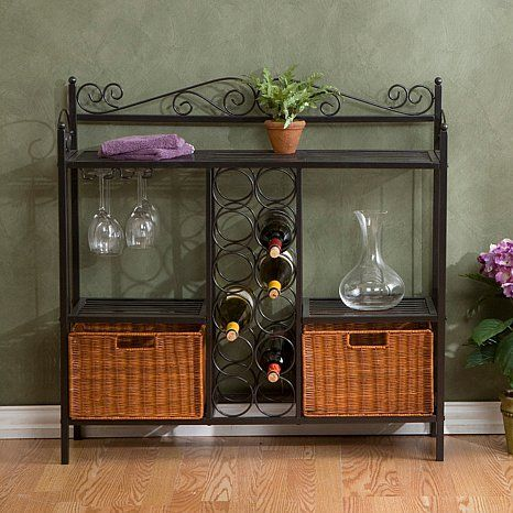 Celtic Baker s Rack with Wine Storage