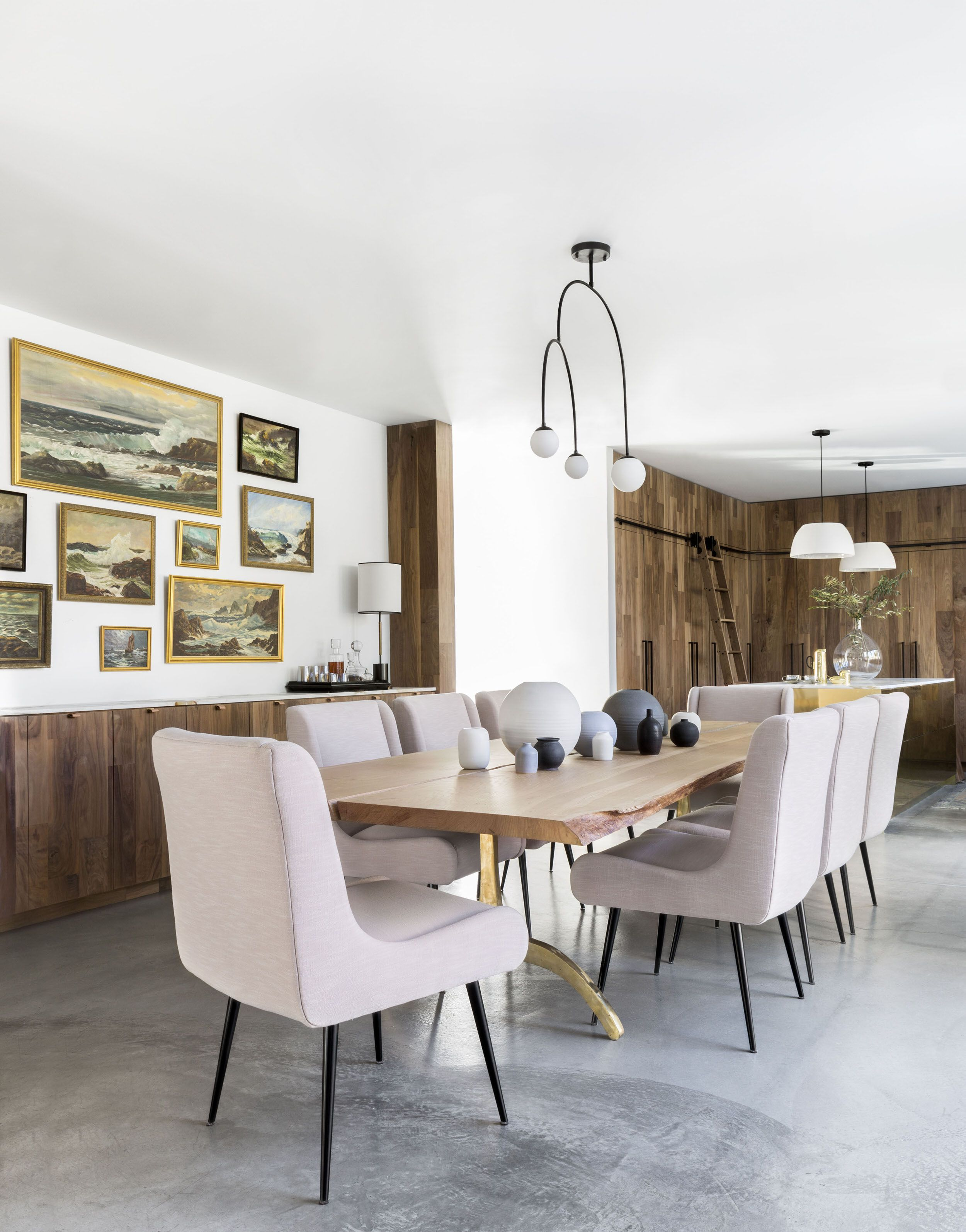 A Modern And Organic Dining Room Makeover Kitchen Dining