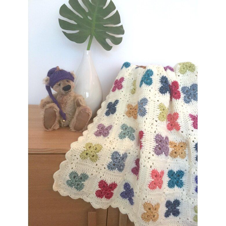 US Terms – Fleur Blanket Crochet pattern by Michelle Robinson