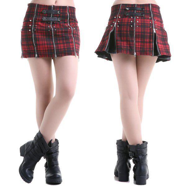 d41161a67 Falda #corta #tartan #punk | Gothic Skirts / Faldas Góticas en 2019 ...