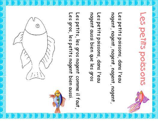 """Imprimer le texte de la chanson """"Les petits poissons"""""""