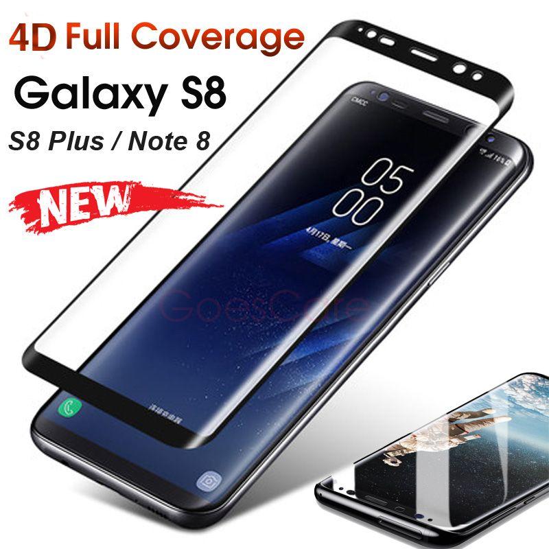 4d Volledige Cover 3d Gebogen Gehard Glas Voor Samsung Galaxy S8 Plus Screen Protector Voor Samsung Note 8 S7 Edge Beschermfolie Galaxy Samsung Samsung Note