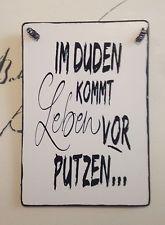Duden Putzen Schild Tafel Wandschild Deko Shabby Vintage Spruche Spruche Zitate Coole Spruche