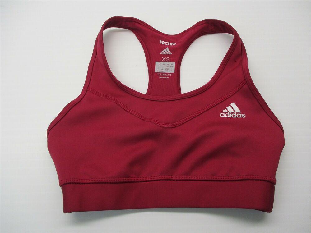 ADIDAS Sports Bra Women's Size XS TECHFIT Compression