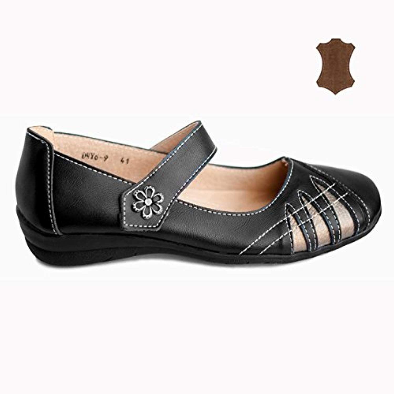 ba337f81b8ac Chaussures Femme Babies DMY6-9 Ballerines Cuir Grande Taille 41 42 43 44  2019