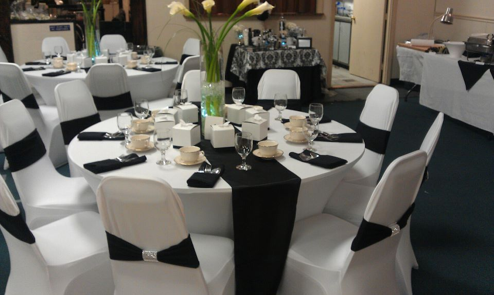 Black And White Linens For Weddings Black White Theme Wedding
