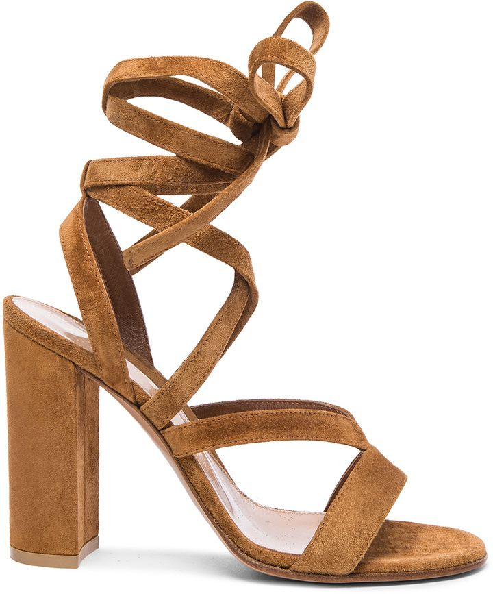 Gianvito Rossi Suede Janis High Sandals | #Chic Only #Glamour Always