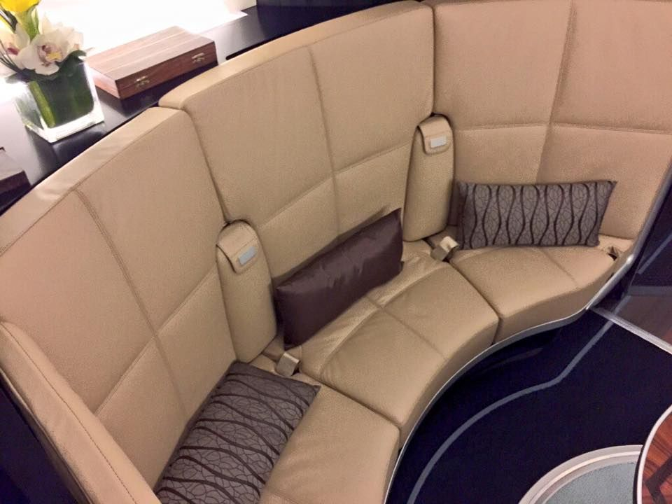Etihad's brand new Airbus A-380-800 - The Residence & First Class Lounge. Dec 2014.