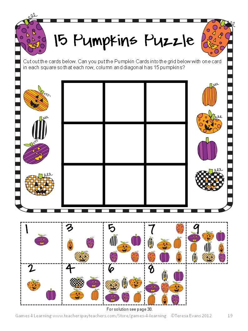Lively image with printable maths games and puzzles