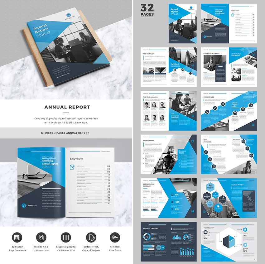 Creative Business InDesign Annual Report Template Annual Report - business annual report template