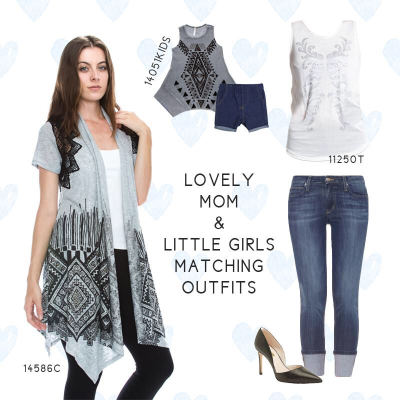 Lovely mom and girls wear Vocal! #newarrivals # wholesalers # boutique #fashion # contemporary # womensclothing #style #wholesalefashion #vocal #apparel