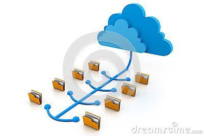 Representación de ficheros computacionales en la nube (carpetas).