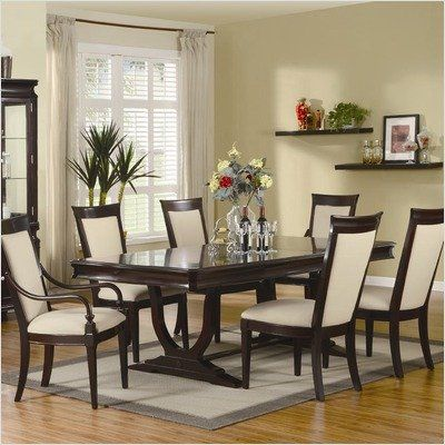 Bundle-62 Alexander Double Pedestal Dining Table Set in Merlot