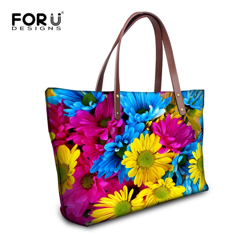 0cd4dabe12 FORUDESIGNS Large Tote Bags for Women Summer Beach Floral Print Women  Messenger Bags Famous Shoulder Bag Big Capacity Women Bag