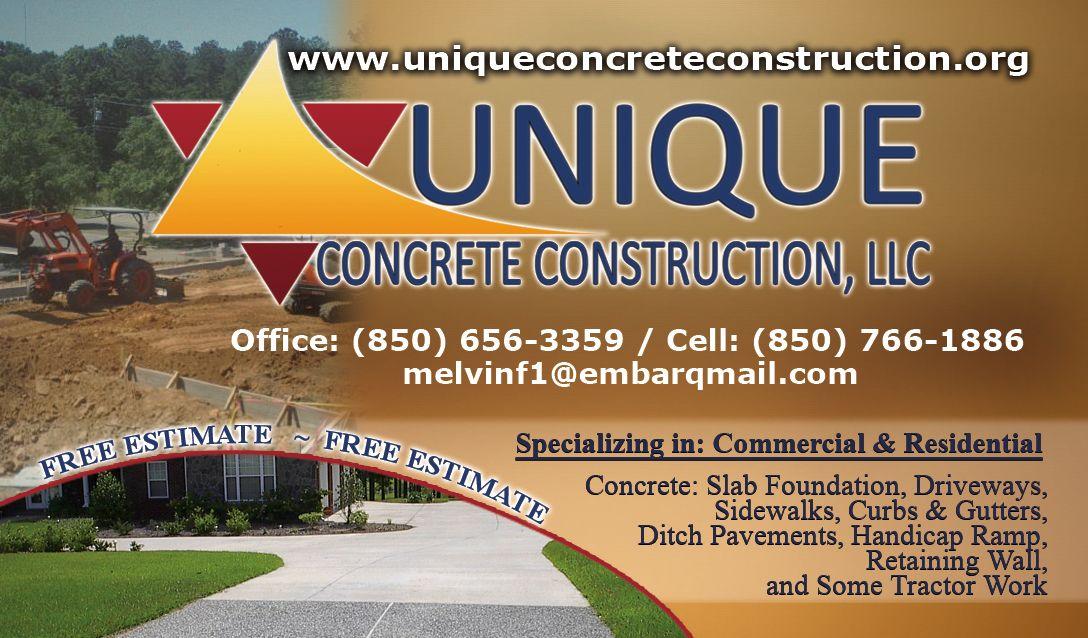 Business Card Unique Concrete Construction Unique Business Cards Slab Foundation Gutters