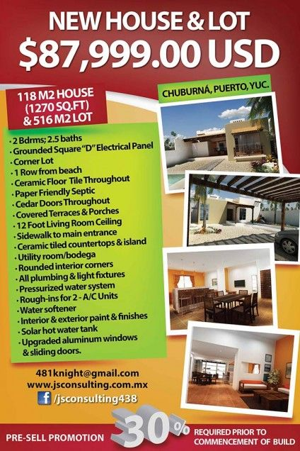 Chuburna Puerto, Yucatan, Mexico Single Family Home For Sale