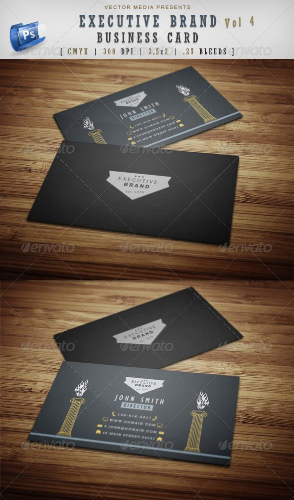 Executive Business Cards Vector Image collections - Card Design And ...