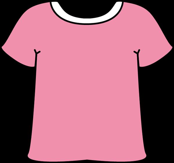 Pink Tshirt With A White Collar Pink Tshirt Kids Tshirts Clip Art