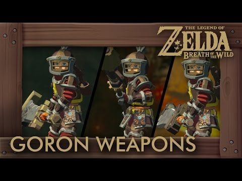 Zelda Breath of the Wild - All Goron Weapons (Compete Set