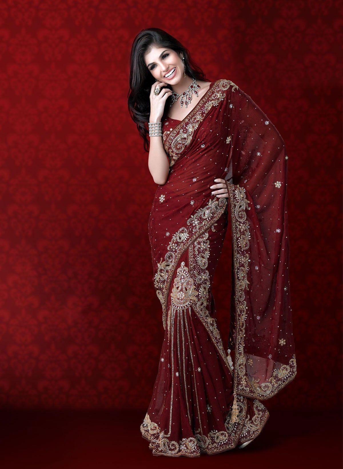 Maroon Wedding Saree Saree Wedding Bridal Sarees Online Bridal Saree