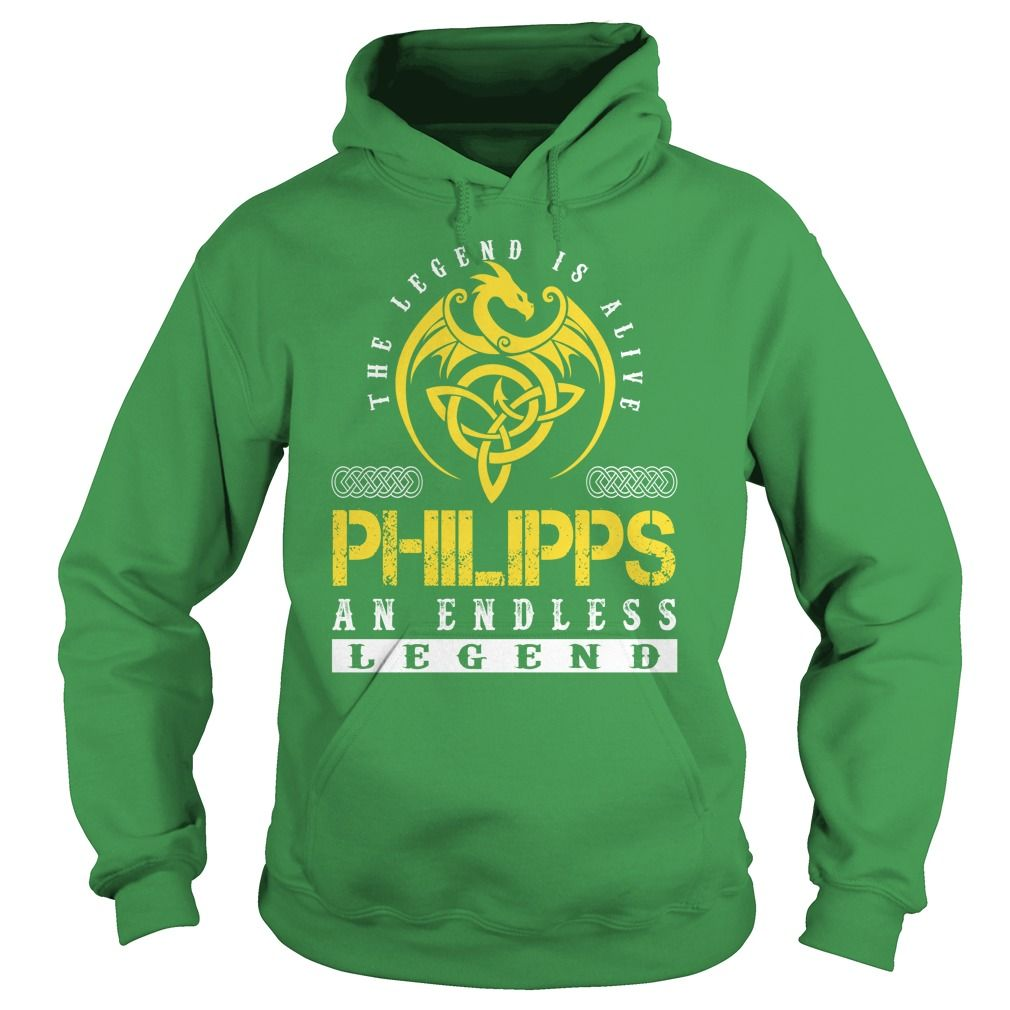 The Legend is Alive PHILIPPS An Endless Legend - Lastname Tshirts