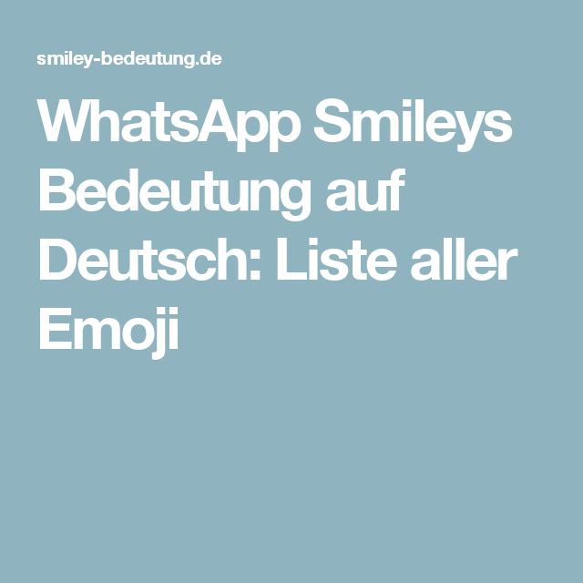 emoji whatsapp bedeutung